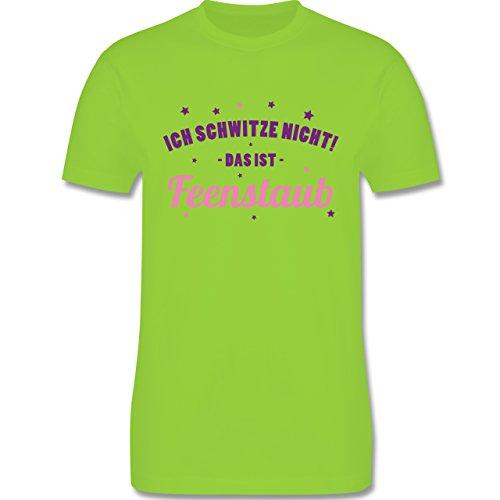 CrossFit & Workout - Ich Schwitze Nicht! Das ist Feenstaub - Herren T-Shirt Rundhals Hellgrün