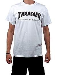 Thrasher monopatín Mag Logo camiseta blanca