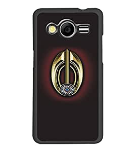 PrintDhaba Khanda D-5113 Back Case Cover for SAMSUNG GALAXY CORE 2 G355H (Multi-Coloured)