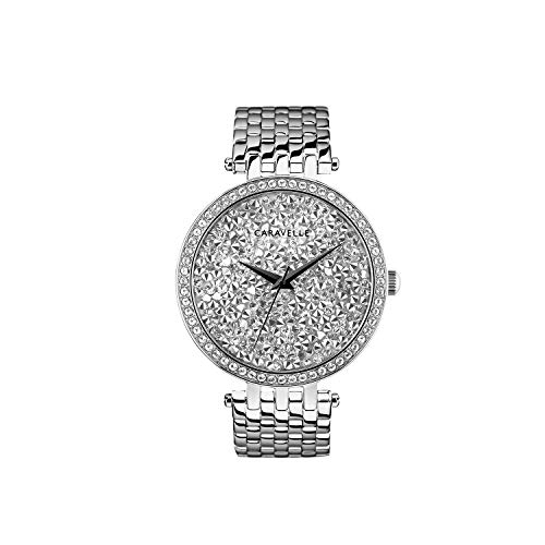 Caravelle Women's Quartz Stainless Steel Watch, Color:Silver-Toned (Model: 43L206) - Double Time Damen Uhr