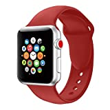 für Apple Watch Armband in 16 Farben, VODKER Armbänder Uhrenarmband 38mm/42mm Ersatz Apple Watch weich Silikonarmband Uhrenarmbänder für iwatch Series 3 Series 2 Series 1, Nike+, Sport, Edition