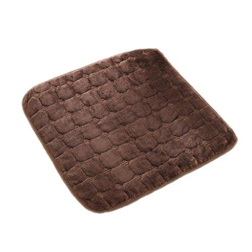 Brown Solid Kissenbezug Set (KKY-Enter Kissen Sitzkissen Brown Esszimmer Stuhl Kissen Stuhl Pad Anti-Rutsch Quadrat Kissen quadratischen Pad Solid Farbe Sitz Kissen Stuhl Kissen Büro Stuhl Büro Soft Cosy Größe: 45 * 45cm)