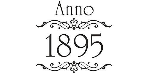 Möbeltattoo Anno 1895 & Ornament Shabby Chic Style (Vintage Französisch Türen)