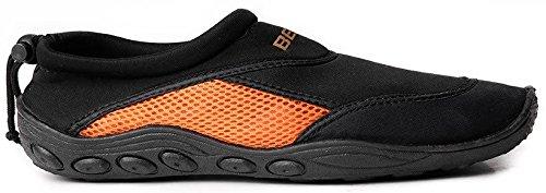 Beco Badeschuh Beco Surf- 9217, Scarpe da immersione uomo Nero/Arancione - Nero/Arancione