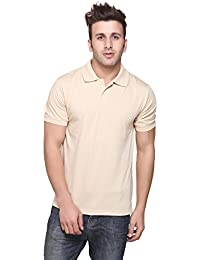 Double F Men's Regular Fit T-Shirt (350pGCrm, Cream, Small)