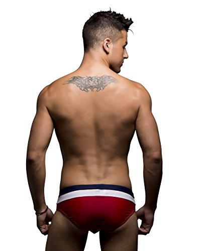 Andrew Christian Slip de Bain Breakwater Bikini Rouge
