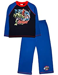 Kids Boys Marvel Avengers Age Of Ultron Pyjama Set Pyjamas 2 Piece Pjs Long Sleeved Size UK 3 to 10 Years