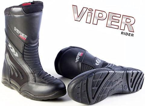 Moto en cuir Viper 856imperméable Armour Touring Bottes pour hommes et femmes (Noir)