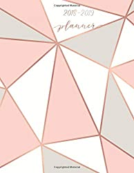 """2018-2019 Planner: Pink & Grey Weekly & Monthly Schedule Diary 