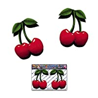 JAS Stickers® Red Cherries Cute Car Sticker - Small Vinyl Twin Decal Pack For Laptop Luggage Bicycle Bike Caravans Van Camper Trucks & Boats - ST00050_SML