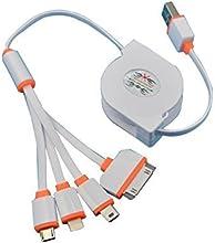 betteryourlife 2A Carga rápida portátil USB 4en 1Multi Cable de carga para Android teléfono y iPhone 566S