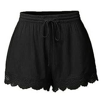 Pantaloncini Donna Estivi da Casual Pantaloni Corti di Sport Esterni Confortevole e Fresco da Bagno Spiaggia Costume Eleganti Pigiama Estivo di Estate Shorts S-5XL JKLEUTRW