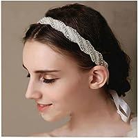 7 COLOR WINGS Perle cristalli a mano con la moda raso bianco del nastro del legame nuziale fascia Accessorio per