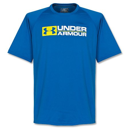 T-shirt under armour wordmark t-shirt pour homme XL Bleu -