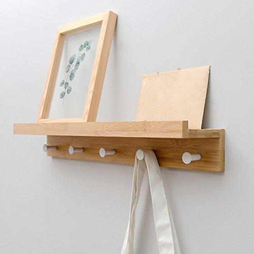 BSNOWF-Kleiderständer Kleiderhaken Kleiderhaken Eingang Haken Regal Wandbehang Wohnzimmer Badezimmer ( Farbe : Natürlich , größe : 5 hooks )