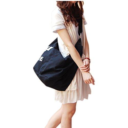 JIAHG Damen Canvas Umhängetasche Handtasche Mädchen Crossover Bag Schultertasche für Arbeit Alltag Schule Wandern Einkaufen Reise Radfahren