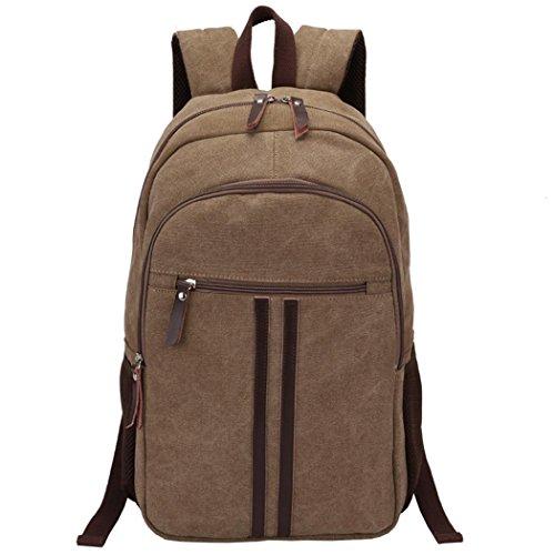 Wandern Casual Retro Canvas Rucksack Leichtgewicht Travel Backpack Handtasche College Daypack Tasche Computer Laptop Taschen, ideal für Sport, Gymnastik, Wandern, Camping (College Halloween Ideen Männer)