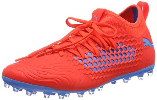 PUMA Herren Future 19.3 Netfit MG Fußballschuhe, Rot (Red Blast-Bleu Azur), 44 EU