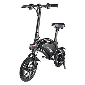 """Windgoo Bicicleta eléctrica Plegable Ruedas de 12"""",Batería de Litio de 4400-36v,Ebike para Adulto (Negro)"""