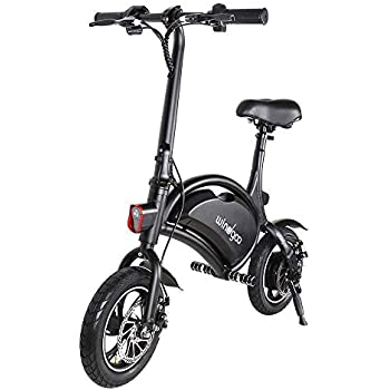 Windgoo Bicicleta Electrica Plegables, 350W Motor Bicicleta Plegable 25 km/hy 15 km, Bici Electricas Adulto con Ruedas de 12