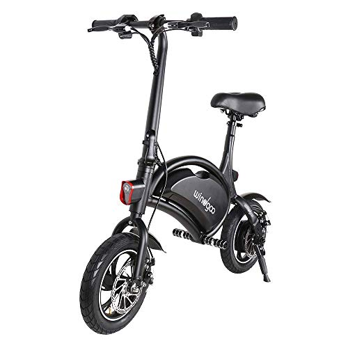 Windgoo Bicicleta eléctrica Plegable Ruedas de 12',Batería de Litio de 4400-36v,Ebike para Adulto (Negro)