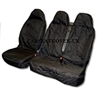 Carseatcover-UK ® Extra Heavy Duty Rugged Negro impermeable Van fundas de asiento – Single y doble