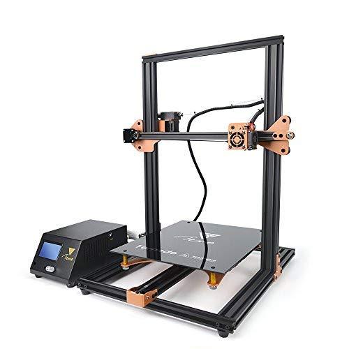 TEVO Tornado Impresora 3D, Impresora DIY Impresora 3D con extrusora para PLA, ABS, TPU, cobre, madera y filamentos flexibles, 300 x 300 x 400 mm de oro y negro