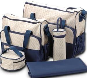 Set 5 kits Bolso/Bolsa/Bolsillo Maternal Bebé para carro carrito biberón colchoneta comida pañal de color azul