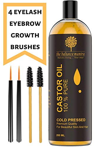 The Balance Mantra Premium Cold Pressed Pure Unrefined Hexane-Free Castor Oil For Skin And Hair 200Ml