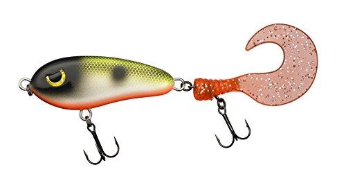 FLADEN Fishing MAXXIMUS PREDATOR–Amo galleggiante,30g, 19cm, con doppia ancoretta VMC, a forma di pesce,ideale per pesci predatori, Hot Frog