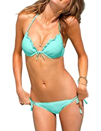 VogueEasy Sexy Trikini Maillot de Bain Femme Bikini 2 pièces push up Remboursé