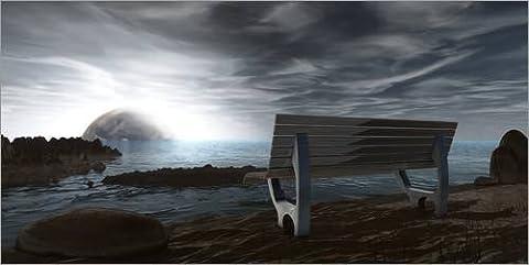 Holzbild 120 x 60 cm: Orte der Ruhe Weitblick von BlackArts3D