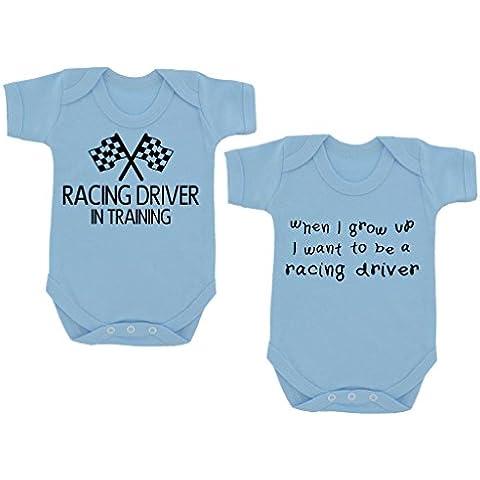 2_pack Racing, in formazione %2FWhen I Grow Up... Body per neonato, colore: azzurro/nero
