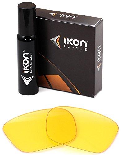 Polarisierte Ikon Iridium Ersatzgläser für Spy Helm Sonnenbrille - Verschiedene Optionen, Herren, HD Yellow, Einheitsgröße