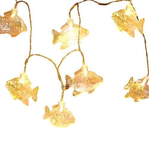 Ob Garland (Ocean Garlands, Chshe, 1,5 M 10 Lampe, Seahorse Shell Marine String Batterie Lampe, Hauptdekoration Lampe, Abs, Pvc, 12 X 12 X 10 Cm Mehrfarbiger Kupferdraht (D))