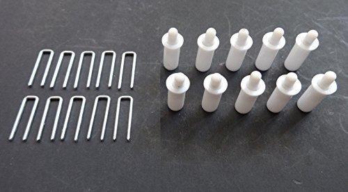 Reparaturset für Reparaturläden mit 10 Kippstangen-Löttern + + 10 Federbelastete Rolladenstifte von Shutter Repair Kit -
