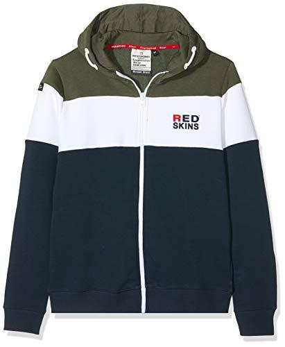 Redskins Lennon Shirt, Multicolore (Kaki/Navy Sweat), (Taille Fabricant:12 Ans) Garço