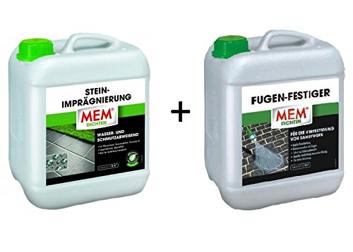 Preisvergleich Produktbild MEM Stein-Imprägnierung 5l + Fugen-Festiger 5l