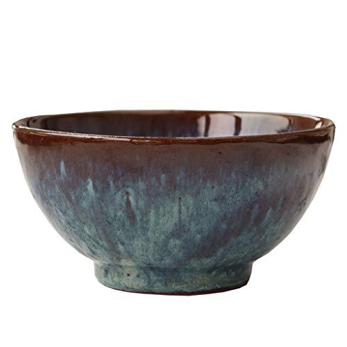 XiuXiu Nordic Rice Bowl Noodle Bowl Salad Bol à dessert en céramique bleu Ménage