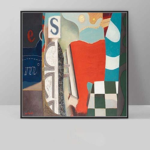 Chitty Abstrakte Rote Farbe Mischen Kunst Dekoration Malerei Wohnzimmer Wandmalerei Veranda Europäischen Und Amerikanischen Stil Studie Schlafzimmer Modernen Minimalistischen Wandbild 30x30 Cm, 40 * 4