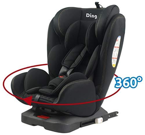 MamaLoes Ding Twist 360° Kindersitz mit Isofix 0-36 kg, drehbar, ECE44/04 Prüfsiegel, schwarz YB104A