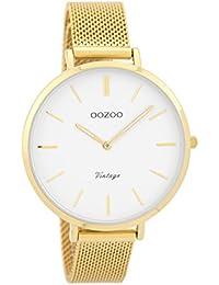 OOZOO Vintage Goldkleurig White watch C9377 (40 mm) f0abd3b3742