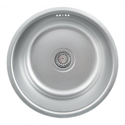 Runde Unterbau Spüle Mizzo Design 420 mit Siphon - Küchenspüle Passend ab 45er Unterschrank - Edelstahlspüle / Spülbecken