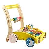 Babynice Kinder Holzwagen Lauflernwagen Bollerwagen Spielzeug für Kinder 0-3 Jahre Alt