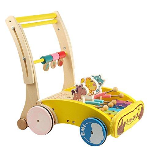 Babynice Trotteur Evolutif Bébé Chariot de Marche pour Bébé Jouet pour Bébé  Marcheur en Bois 1b3d08a1d71