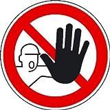 Zutritt für Unbefugte verboten Verbotsschild, selbstkl. Folie, Größe 10cm