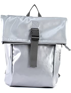 BREE Unisex-Erwachsene Punch 92, Shiny Silver, Backpack S S18 Rucksack, Silber (Silver), 12 x 42 x 36 cm