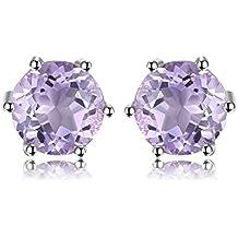 bf83789ed8a3 JewelryPalace 1ct piedra redonda natural piedras preciosas Amethyst Citrine  Garnet Peridot Topacio 925 pendientes de plata