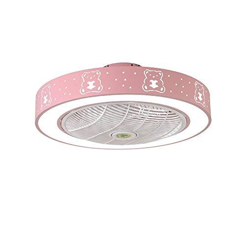 Shfmx Cuarto de niños Regulable por LED con Control Remoto Ventilador, luz de Techo, luz de Dormitorio...