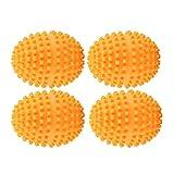 Palle di Asciugatrice, 4 Pcs/Set Sfere Asciugatrici per Bucato Arancia Riutilizzabile Dryer Ball Ammorbidente per Bucato e Asciugatrice per Pulizia Degli Abiti per la Casa, Funzione Ammorbidente